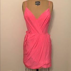 Yumi Kim 100% Silk Dress Hot Pink Extra Small XS